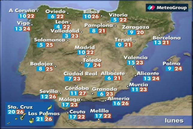 El tiempo para hoy en España, 31 de octubre de 2016
